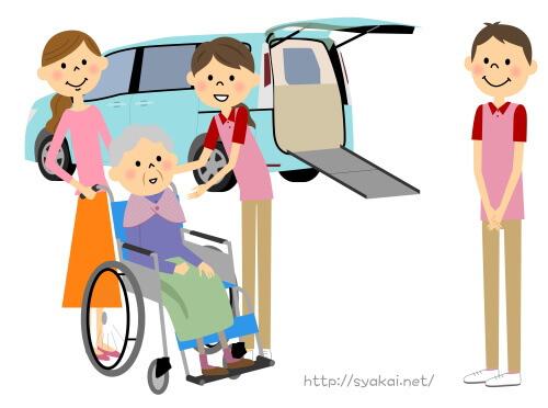 福祉施設まで老人の送迎する介護職員